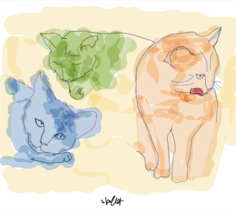 Cat-themed illustrations